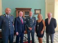 Il Comandante Provinciale della Guardia di Finanza, colonnello Reda in visita dal Presidente Raffa