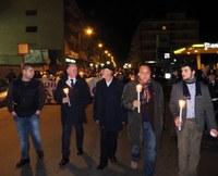 Ad un anno dalla scomparsa di Fabrizio Pioli anche il Presidente della Provincia alla fiaccolata di Gioia Tauro