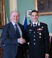 Il nuovo comandante provinciale dei Carabinieri ricevuto dal presidente Raffa