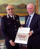 Il presidente Giuseppe Raffa incontra il generale Aloisio Mariggiò comandante della Legione Carabinieri Calabria