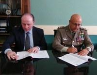 Il presidente Raffa e il generale Volpi firmano protocollo intesa per banca dati Esercito presso i Centro per l'Impiego