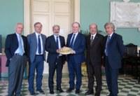 Il presidente Raffa e il questore Longo, incontro per l'avvio di sinergie antimafia