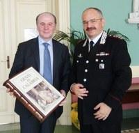 """Incontro tra il Presidente e il Comandante dei Carabinieri: Raffa ad Angelosanto, """"la sinergia interistituzionale è stata un ottimo investimento culturale""""."""