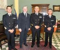 L'Ammiraglio Raffaele Caruso in visita ufficiale alla Provincia