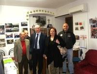 Raffa e il mondo del volontariato, visita alla sede dei donatori sangue per talassemici di Locri