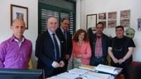 San Luca, sopralluogo del presidente Raffa che stanzia ventimila euro per le strutture scolastiche