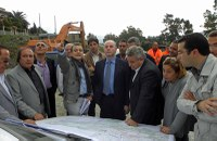 Sopralluogo costruenda strada Bovalino Bagnara